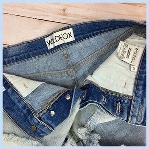 0499cf67ee Wildfox Shorts - Wildfox High Rise Beach Butt Denim Shorts Size 27